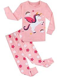 MOMBEBE COSLAND Baby and Kid Girls' Cotton Pajamas Set