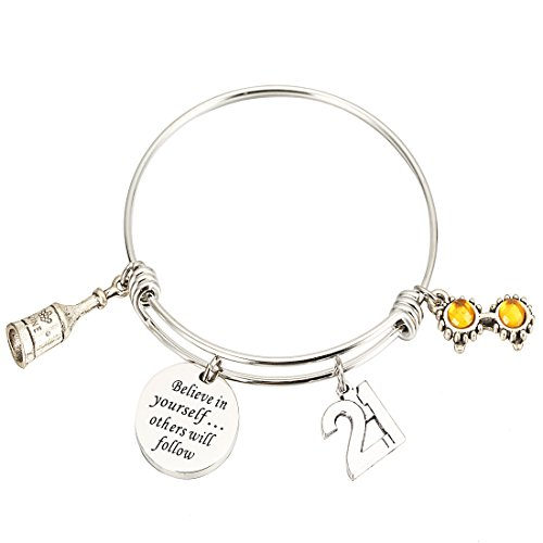 Birthday Gifts ,Personalized Birthday Bracelet 13th Sweet 16 18th 21st Believe in Yourself inspiration Bracelet (21st)
