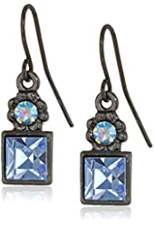 1928 Jewelry Colored Square Drop Earrings