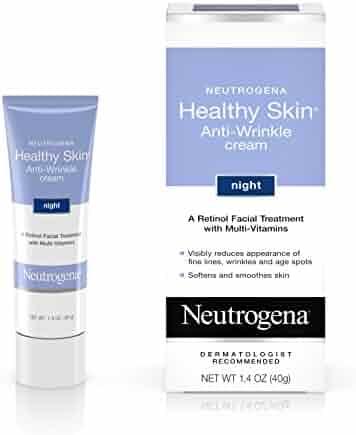 Neutrogena Healthy Skin Anti-Wrinkle Retinol Night Cream Treatment with combination of Pro-Vitamins B5, Vitamin E and Special Moisturizers, 1.4 oz