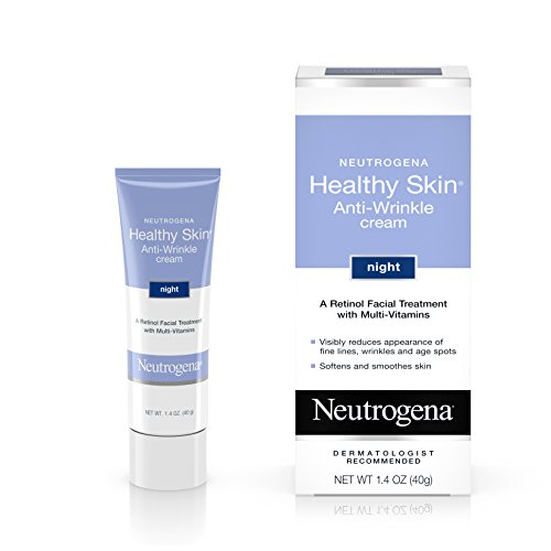 Skin Rejuvenating Face Treatment - Neutrogena Healthy Skin Anti-Wrinkle Retinol Night Cream Treatment with combination of Pro-Vitamins B5, Vitamin E and Special Moisturizers, 1.4 oz