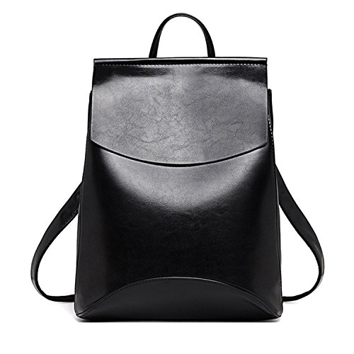 (Zachaomero Fashion Women Backpack Youth Leather Teenage Girls School Shoulder Bag Dark Pink)