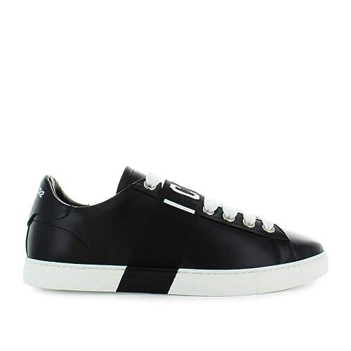 Zapatos de Hombre Zapatilla Icon Negro Dsquared2 Otoño Invierno 2019: Amazon.es: Zapatos y complementos
