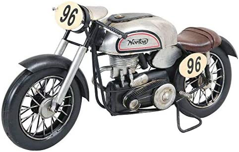 レトロ感漂うブリキのおもちゃ。 アンティークオブジェ ブリキのおもちゃ(motorcycle racing) 27547 〈簡易梱包
