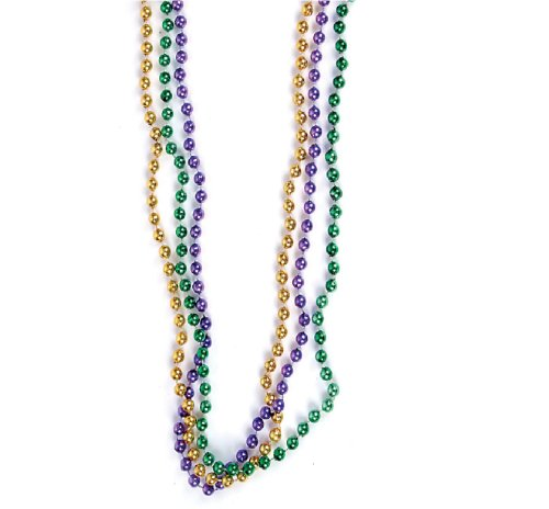 Amazon Com 33 Mardi Gras Party Throw Toss Bead Necklaces Pack Of 120 Toys Games