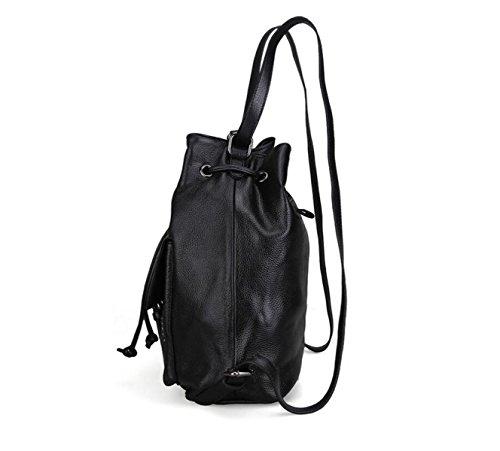 Frauen-lederner Schulterbeutel Gezeiten Nieten Handtasche Freizeit-Reisetasche