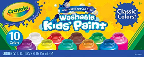 (Crayola Washable Kids' Paint, Assorted Colors 10 ea)
