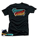 SNELOS Shirt to Match Jordan (Jordan 9 Dream it Do it- Dream Chaser Shirt Black L)