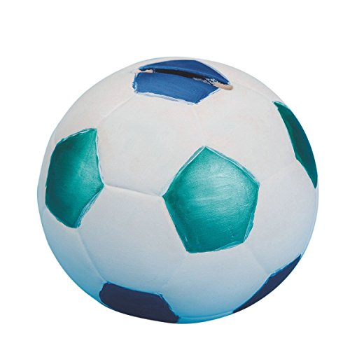 Ceramic Bisque Soccer Ball Banks