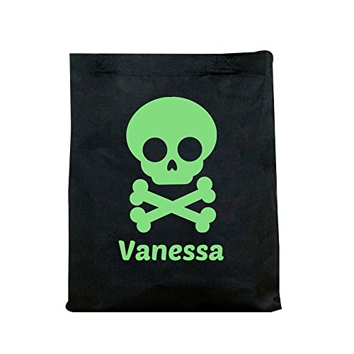 GiftsForYouNow Glow in the Dark Skull Personalized Halloween Trick or Treat (Glow In The Dark 15 Dresses)