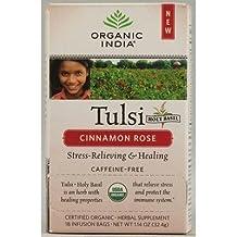 Organic India Tulsi Tea Bags Cinnamon Rose by Organic India