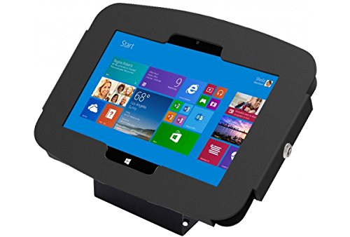 Maclocks 101B518GEB Secure Space Enclosure Kiosk with 45 Degree Mount for Surface 3 10.8 Inch (Black) by Compulocks