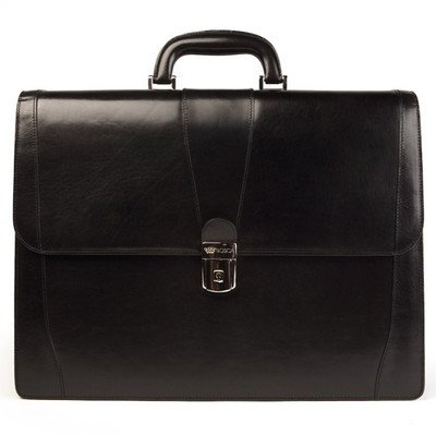 Old Leather Laptop Briefcase Color: Black by Bosca