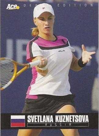 Svetlana Kuznetsova Tennis Card  Russia  2005 Ace Debut  7
