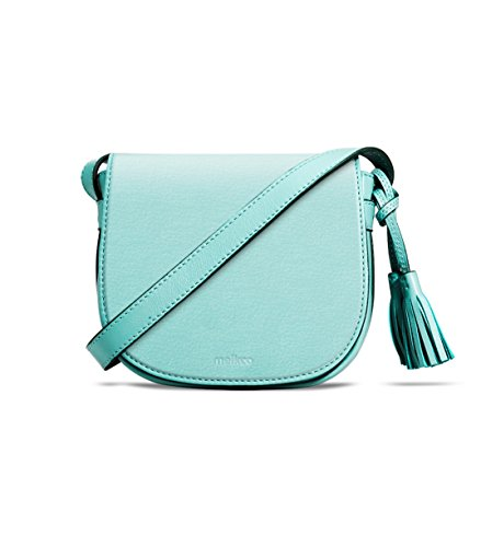 Melkco Blooming Series mini borsa da sella in vera pelle (lago blu)