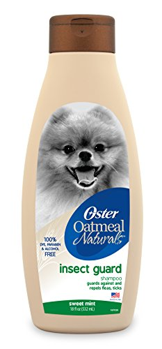 Oster Oatmeal Naturals Insect Guard Shampoo repeals fleas, ticks and mosquitos - dye and alcohol free- 18 fl oz by Oster Animal Care