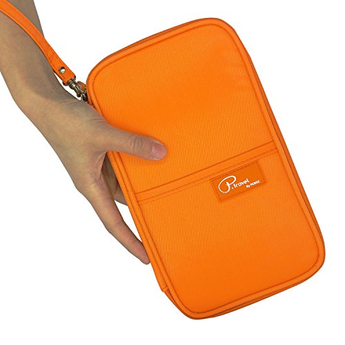 P.travel Passport wallet Oxford Orange with RFID Stop by P.travel (Image #3)
