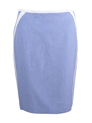 Nine West Women's Crossdye Skirt with Piping, Breeze/Lily, 10 (Breeze Skirt)