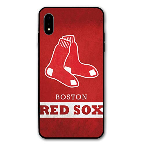 (HiFee iPhone XR Case Baseball Team Design Slim and Lightweight Cover Cases (Red-Sox-BSN))