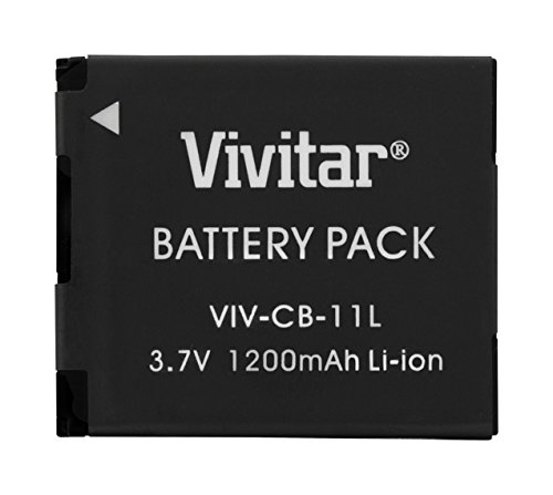 - Vivitar VIV-CB-11LH Li-On Battery for Canon NB-11LH 1200Mah (Black)