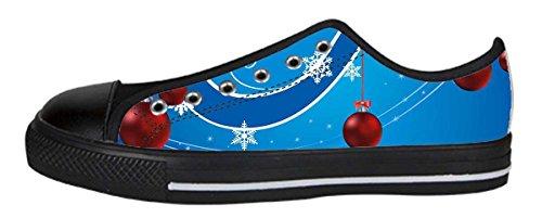 Zapatos De Lona Para Mujer Low Chirstmas Ball Design Newlowtopball07