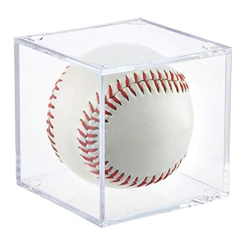 (Baseball Display Case, UV Protected Acrylic Cube Baseball Holder Square Clear Box Memorabilia Display & Storage Sports Official Baseball Display Case - Autograph Display - Fits Official Size Ball)