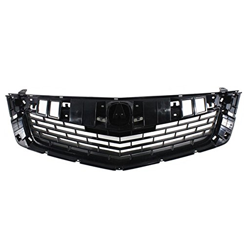Partomotive For NEW 09-10 TSX Front Face Bar Grill Grille Assembly Black AC1200113 - Grill Acura