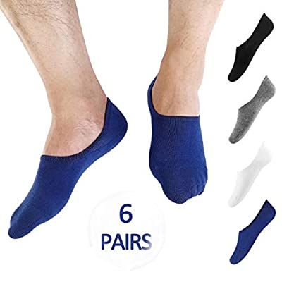 No Show Low Cut Socks Men - (Size 9-12/12-15) Invisible Casual Cotton Loafer Socks With Non-Slip Grip (3/6/12 Packs)