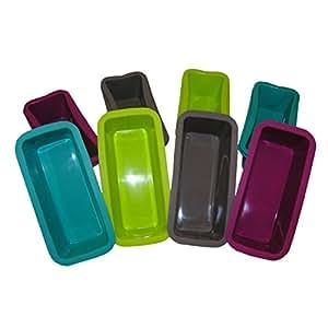 Juego de 12mini moldes de silicona forma Hielo Forma Pan Hornear 4colores