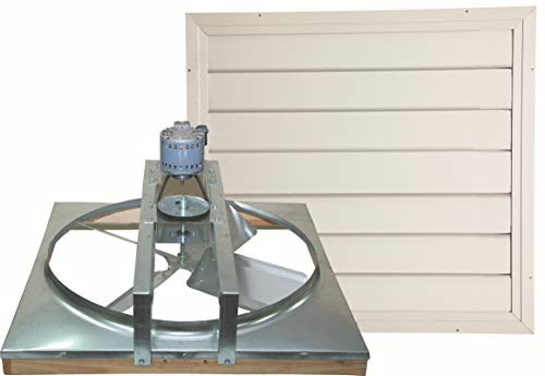 Cool Attic CX24BD2SPD Belt Drive 2-Speed Whole House Attic Fan with Shutter, 24 Inch