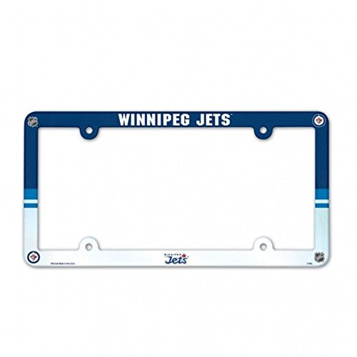 - Wincraft/Mccarthur NHL Winnipeg Jets Full Color Plastic License Plate Frame