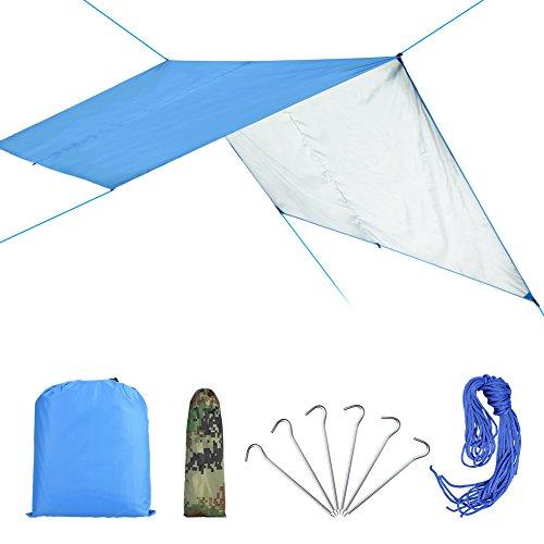 VGEBY Waterdicht tentzeil met oogje voor camping en outdoor, met draagtas.