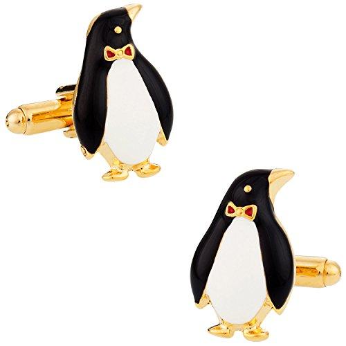 Cuff-Daddy Penguin Cufflinks Gold-Tone with Presentation Box by Cuff-Daddy (Image #3)