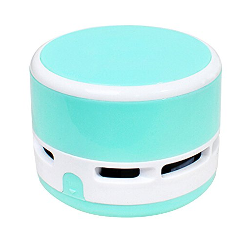 discoGoods Dust Cleaner Mini Table Dust Vacuum Cleaner Table Cleaning Assistance Keyboard Cleaning Dust Vacuum Children' Day Gift (Blue)