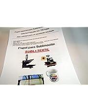CartuchoRecargable - Papel de Sublimación Ideal para Tazas (100 Hojas) A4, Blanco
