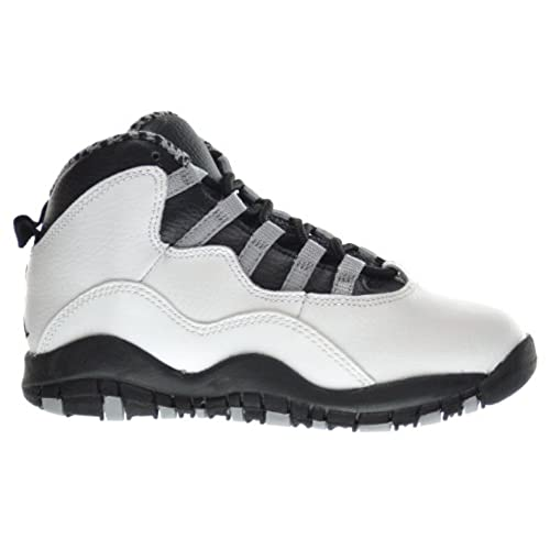 02397673c01c Air Jordan Retro 10 (PS) Little Kids Sneakers White Black-Light Steel