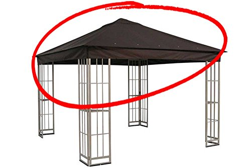 Cheap The Outdoor Patio Store Replacement Canopy for Garden Treasures 10'x10′ Canopy for S-J-109DN in Dark Brown