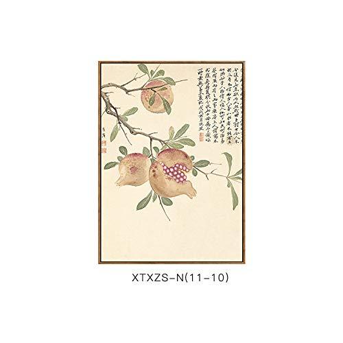 Moderne DEED Schlafzimmermalerei Wandmalerei Elegante A Wohnzimmerdekorationsmalerei Dekorative botanische Malerei und Chinesische Blumenmustermalerei Elegante qwqf6