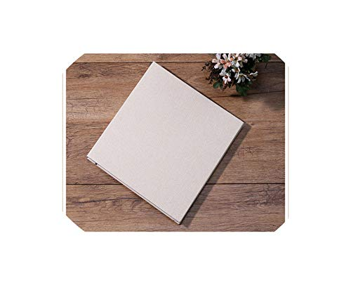 Photo Album,Linen 16 Inch DIY Photo Album Lovers Birthday Gift Wedding Photos Baby Photo Album Scrapbook Paper Crafts Albums Sticky,Beige - Black - Stic Scrapbook Glue