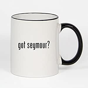 got seymour? - 11oz Black Handle & Rim Coffee Mug