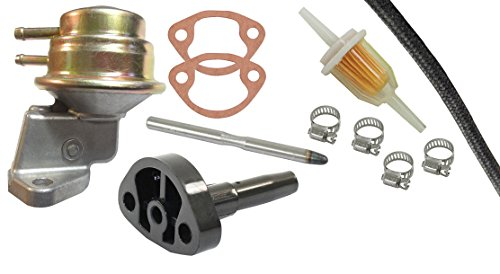 AIR COOLED VW BUG BEETLE FUEL PUMP KIT WITH FLANGE & ROD, FILTER, HOSE & CLAMPS, GENERATOR STYLE 113-127-025D - Hose Flange Kit