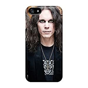 Scratch Resistant Hard Phone Case For Apple Iphone 5/5s With Allow Personal Design Trendy His Infernal Majesty Band HIM Image Finleymobile77