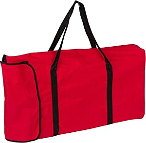 Trademark Innovations Portable Sports Bench With Back - Sits 6 People - (Red) from Trademark Innovations