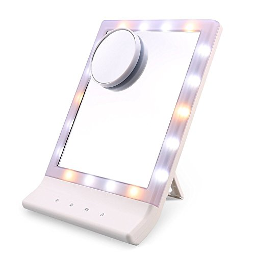 from usa flymei multiple illumination settings touch screen led lighted makeup mirror with. Black Bedroom Furniture Sets. Home Design Ideas