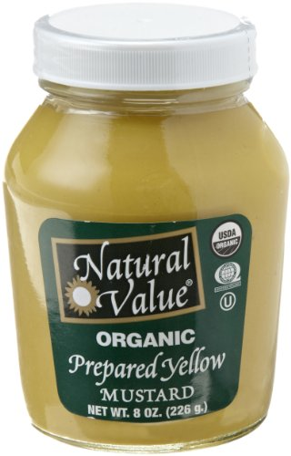 Price comparison product image Natural Value Organic Prepared Yellow Mustard,  8 Ounce Glass Jars (Pack of 12)