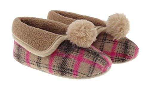 Bañador para bebé/Abuela Granny estilo Zapatillas 0–24meses bt1570 Brown/Pink Talla:6-12