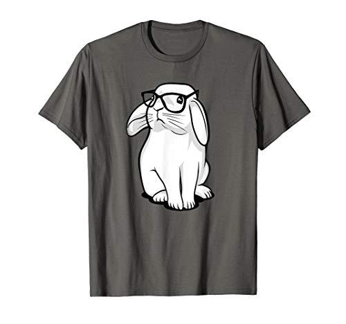 (Funny Rabbit Hipster Bunny Geek Nerd Women Girls T-Shirt)