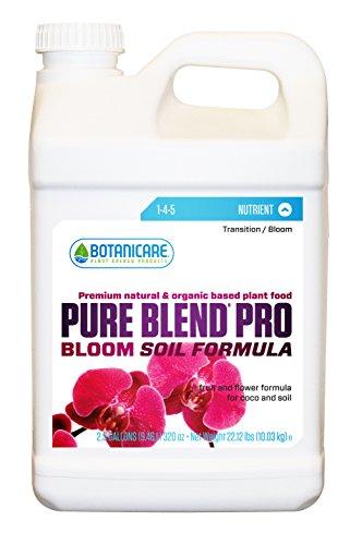 (Botanicare PURE BLEND PRO Bloom Soil Nutrient 1-4-5 Formula, 2.5-Gallon)