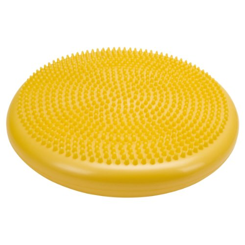 Cando 30-1870Y Yellow Inflatable Vestibular Disc, 13-51/64'' Diameter, 300 lbs Weight Capacity by Cando