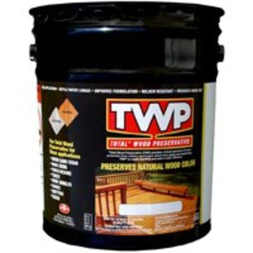 Amteco Twp-120-5 Total Wood Preservative Stain, 5 Gallon, Pecan (Solid Pecan)